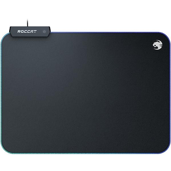 Mouse Pad Gaming ROCCAT Sense AIMO, iluminare RGB, marime Mid, negru