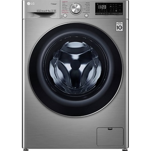 Masina de spalat rufe frontala cu uscator LG F4DN409S2T, 6 Motion, Wi-Fi, 9/5kg, 1400rpm, Clasa D, argintiu