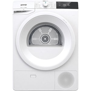 Uscator de rufe GORENJE DE92/G, Pompa de caldura, 9kg, 16 programe, Clasa A++, alb