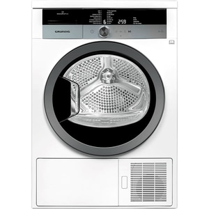 Uscator de rufe GRUNDIG GTN38250MGC, Touch Dry, Pompa de caldura, 8kg, 16 programe, Clasa A++, alb