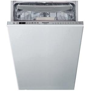 Masina de spalat vase incorporabila HOTPOINT HSIO3O23WFE, 3D Zone Wash, 10 seturi, 9 programe, 45 cm, Clasa E, argintiu