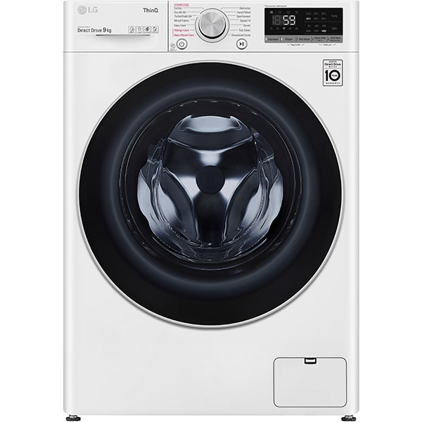 Masina de spalat rufe frontala LG F4WV509S1E, Wi-Fi, 9 kg, 1400rpm, Clasa B, alb