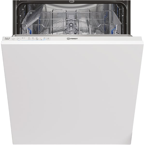 Masina de spalat vase incorporabila INDESIT DIE2B19, Push&Go, 13 seturi, 5 programe, 60 cm, Clasa F, alb