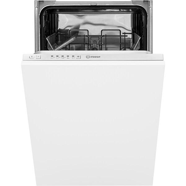 Masina de spalat vase incorporabila INDESIT DSIE2B19, 10 seturi, 5 programe, 45 cm, Clasa F, alb