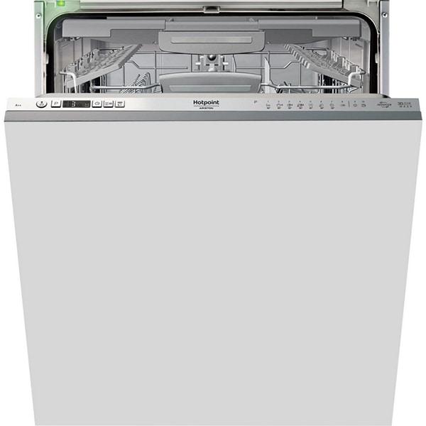 Masina de spalat vase incorporabila HOTPOINT HIO3T223WGFE, 3D Zone Wash, 14 seturi, 10 programe, 60 cm, clasa A++, inox