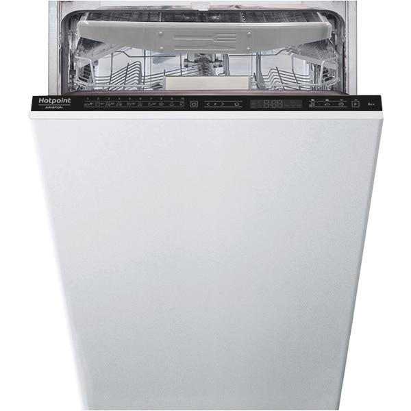 Masina de spalat vase incorporabila HOTPOINT HSIP4O21WFE, 3D Zone Wash, 10 seturi, 10 programe, 45 cm, Clasa E, negru