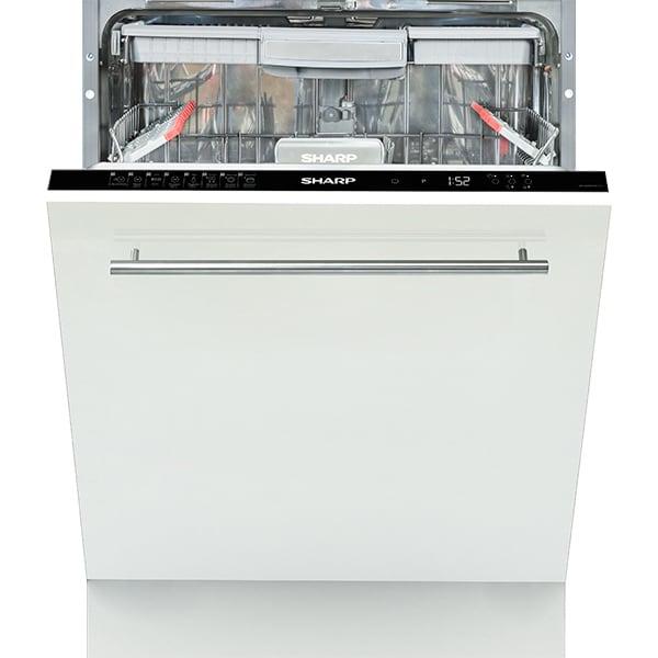 Masina de spalat vase incorporabila SHARP QW-GD52I472X-EU, 15 seturi, 8 programe, 60cm, Clasa A++, negru