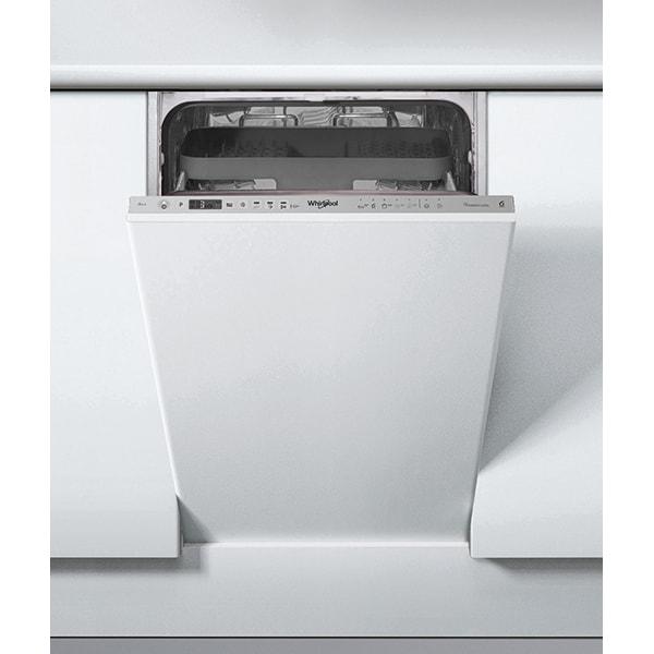 Masina de spalat vase incorporabila WHIRLPOOL WSIO3T223PCEX, 6th sense, 10 seturi, 7 programe, 45 cm, Clasa E, inox