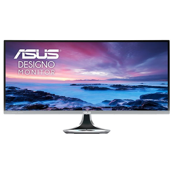 "Monitor curbat LED VA ASUS Designo Curve MX34VQ, 34"", UWQHD, 100Hz, Incarcator Wireless Qi, gri inchis"