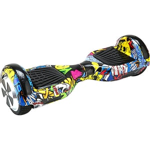 Hoverboard MYRIA Sky Rider Junior, 6.5 inch, graffiti galben + geanta transport inclusa