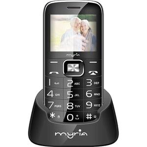 Telefon mobil MYRIA Senior 2 MY9072BK, 32MB RAM, 2G, Dual SIM, Black