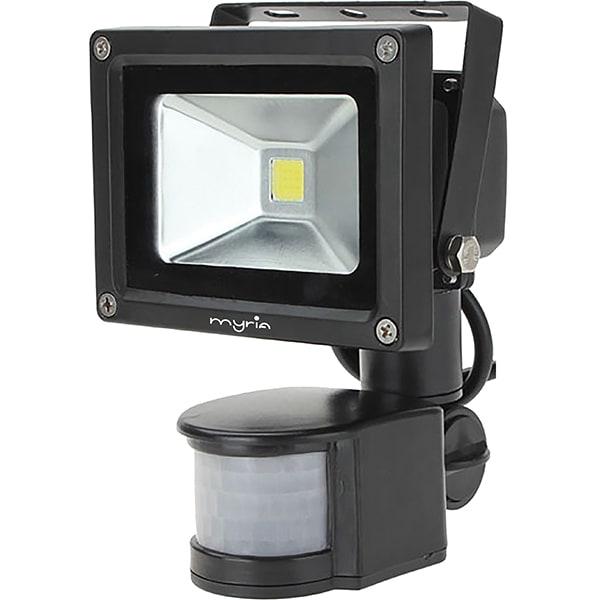 Proiector LED cu senzor de miscare MYRIA MY2240, 10W, 400 lumeni, negru