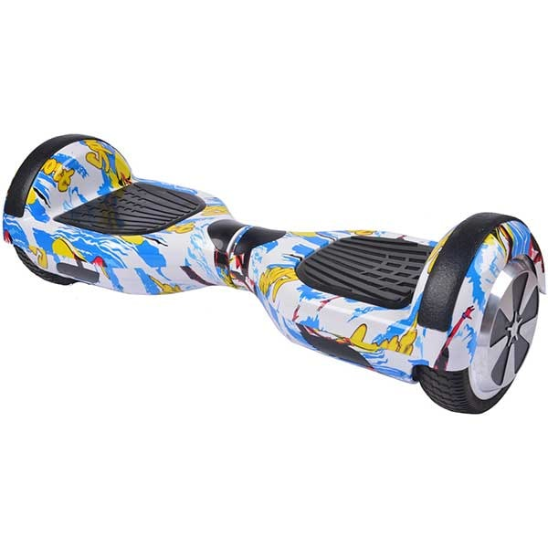 Hoverboard MYRIA MY7012YBG Junior, 6.5 inch, graffiti galben