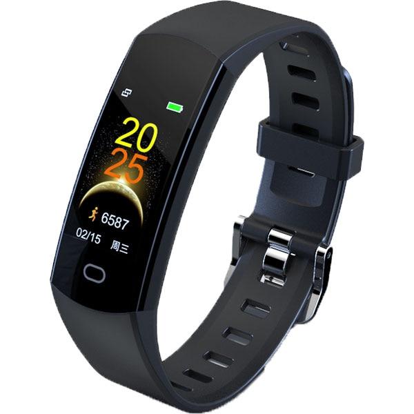 Bratara fitness MYRIA MY9520BK, Android/iOS, silicon, negru