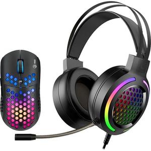 Kit Gaming casti si mouse MARVO MH01, 3.5mm, USB, negru