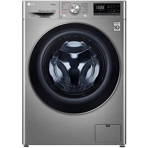 Masina de spalat rufe frontala LG F4WN408S2T, 6 Motion, Wi-Fi, 8kg, 1400rpm, Clasa A+++, argintiu