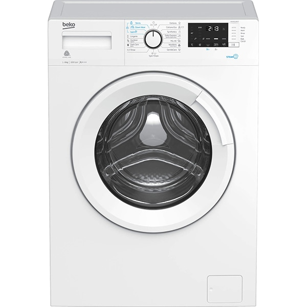Masina de spalat rufe frontala BEKO WUE6512BXST, SteamCure, 6kg, 1000rpm, Clasa A+++, alb