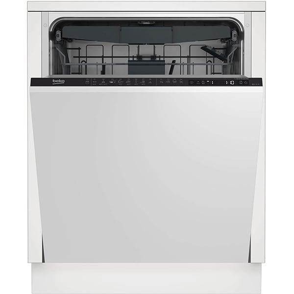 Masina de spalat vase incorporabila BEKO DIN28430, 14 seturi, 8 programe, 60 cm, Clasa D, negru