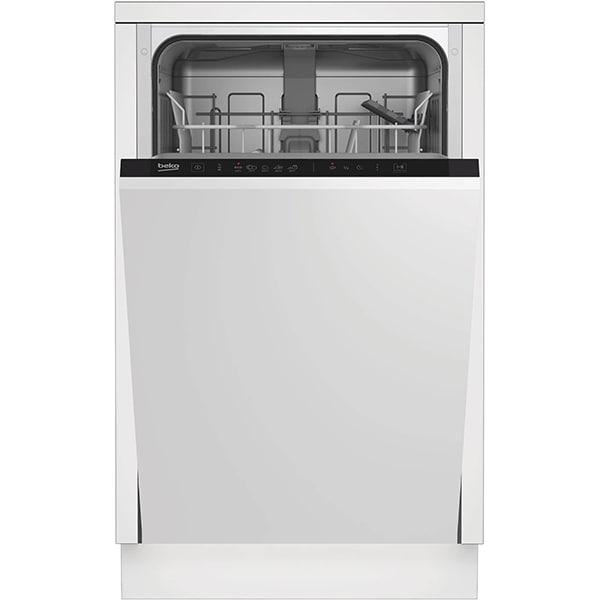 Masina de spalat vase incorporabila BEKO DIS15014, 10 seturi, 5 programe, 45 cm, Clasa F, negru