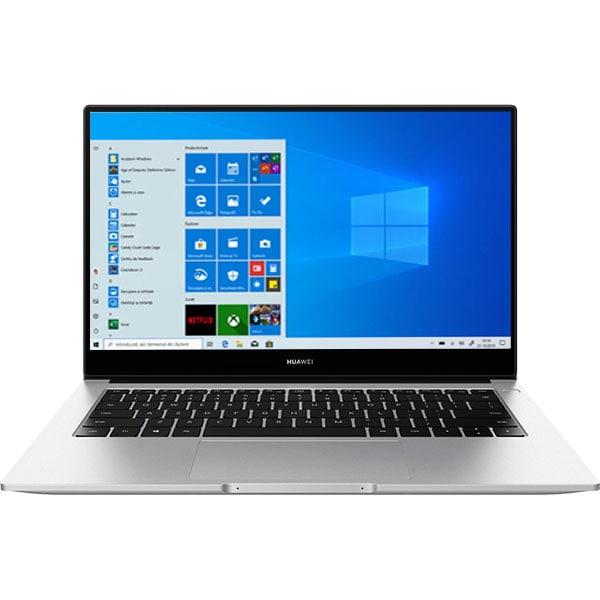 "Laptop HUAWEI MateBook D14, AMD Ryzen 7 3700U pana la 4.0GHz, 14"" Full, 8GB, SSD 512GB, AMD Radeon Vega 8 Graphics, Windows 10 Home, argintiu"