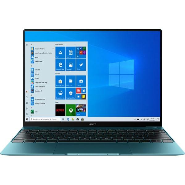 "Laptop HUAWEI MateBook X, Intel Core i5-10210U pana la 4.2GHz, 13"" 3K, 16GB, SSD 512GB, Intel UHD Graphics, Windows 10 Home, Forest Green"