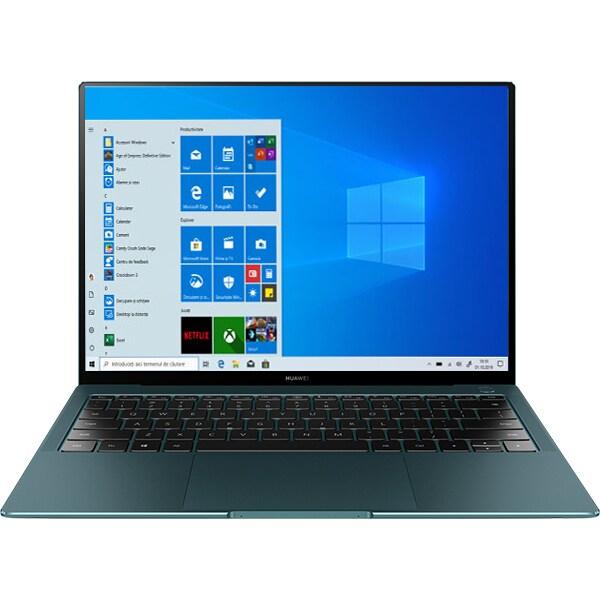 "Laptop HUAWEI MateBook X Pro 2021, Intel Core i7-1165G7 pana la 4.7GHz, 13.9"" 3K Touch, 16GB, SSD 1TB, Intel Iris Xe Plus, Windows 10 Pro, Emerald Green"
