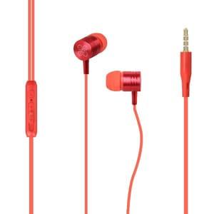 Casti PROMATE Meta, Cu Fir, In-ear, Microfon, rosu