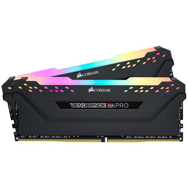 Memorie desktop CORSAIR Vengeance RGB Pro, 2x8GB DDR4, 2666MHz, CL16, CMW16GX4M2A2666C16