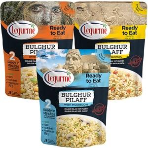 Mix Pilaf bulgur cu ciuperci + Pilaf bulgur cu quinoa + Pilaf bulgur cu naut LEGURME, 250g, 3 bucati