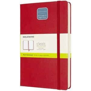 Carnet notite MOLESKINE Expanded Hard Notebook, velina, Large, 200 file, rosu