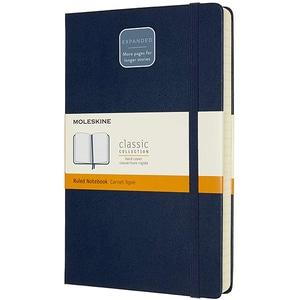 Carnet notite MOLESKINE Expanded Ruled Notebook, dictando, Large, 200 file, albastru