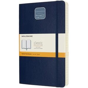 Carnet notite MOLESKINE Expanded Ruled Soft Notebook, dictando, Large, 200 file, albastru