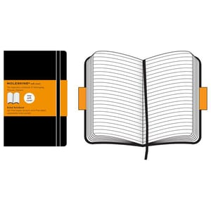Carnet notite MOLESKINE Ruled Soft Notebook, dictando, Pocket, 96 file, negru