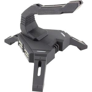 Mouse Bungee WHITE SHARK Scorpion X-200, hub USB, iluminare LED, negru