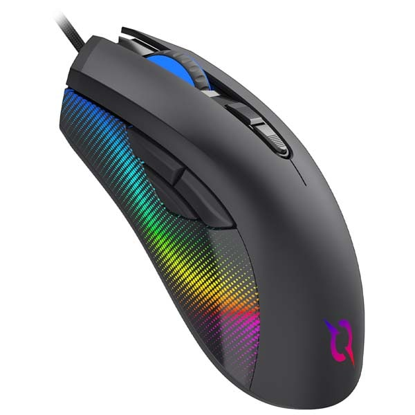 Mouse Gaming AQIRYS Phoenix, 12000 dpi, negru