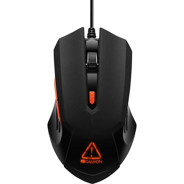 Mouse Gaming CANYON Star Raider CND-SGM01RGB, 3200 dpi, negru
