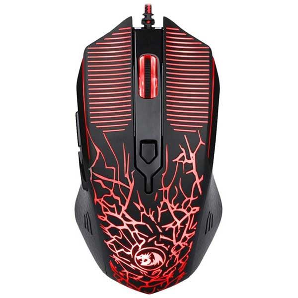 Mouse Gaming REDRAGON Inquisitor M608-BK, 3200 dpi, negru-rosu