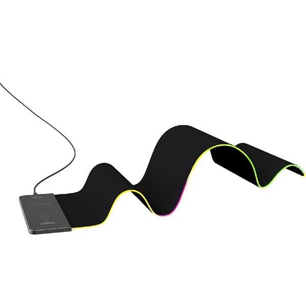 Mouse Pad Gaming VERTUX RaftPad-Qi, RGB, Wireless Charging, negru