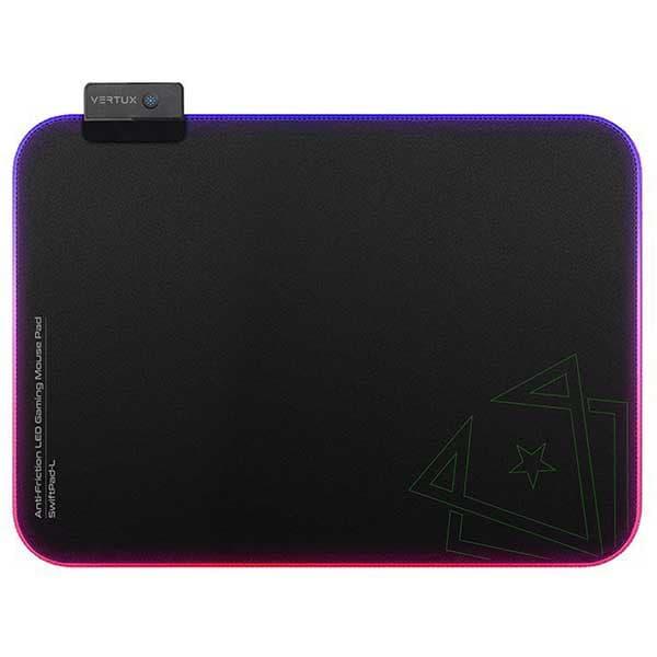Mouse Pad Gaming VERTUX SwiftPad-L, RGB, negru