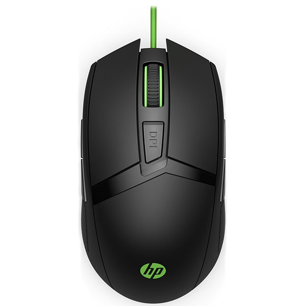 Mouse Gaming HP Pavilion 300, 5000 dpi, negru-verde