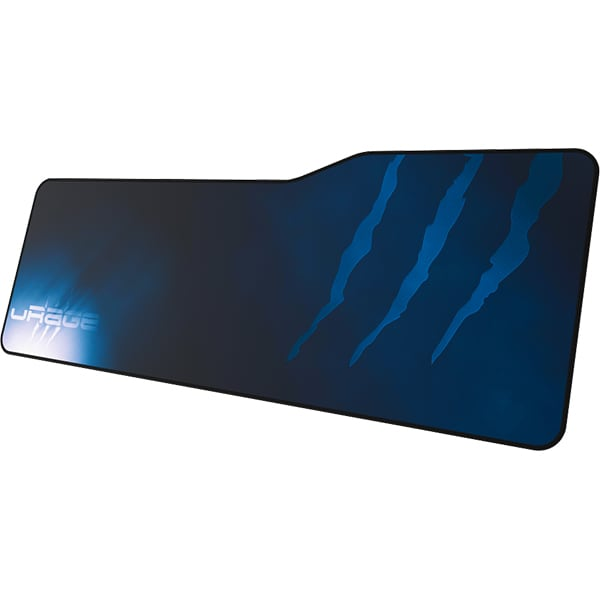 Mouse Pad Gaming HAMA uRage Rag, dimensiune XXL, albastru-negru