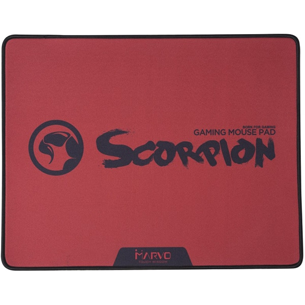 Mouse Pad Gaming MARVO G18 Red, design Scorpion, rosu-negru