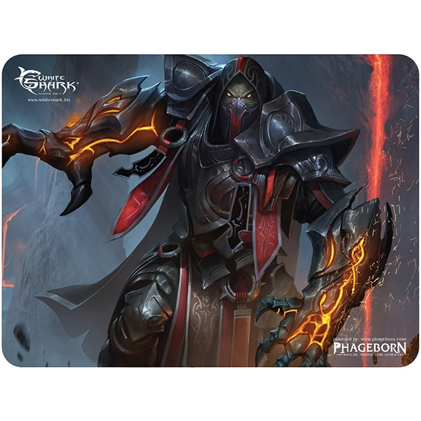 Mouse Pad Gaming WHITE SHARK Umethon MP-1897, marime L, negru-portocaliu