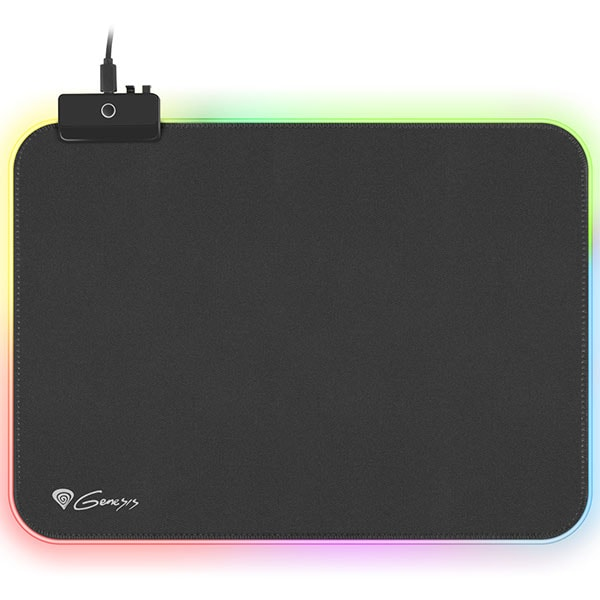 Mouse pad gaming NATEC Genesis Boron 500 M RGB, iluminare RGB, negru