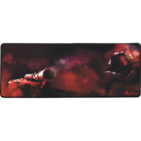 Mouse pad gaming NATEC Genesis Carbon 500 XXL Tank, negru-rosu