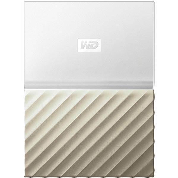 Hard Disk Drive portabil WD My Passport Ultra WDBFKT0040BGD, 4TB, USB 3.0, alb-auriu
