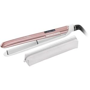 Placa de indreptat parul REMINGTON Rose Luxe S9505, 235 grade, LCD, invelis ceramic, alb-roz