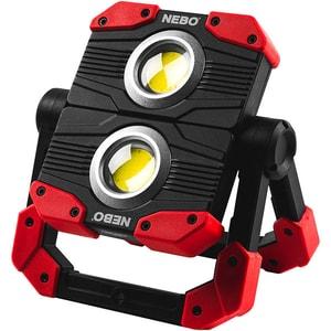 Lampa de lucru LED NEBO Omni 2000 NE0015, 2000 lumeni, IP54, Acumulator 4000 mAh, rosu-negru
