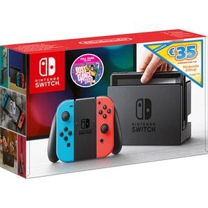 Consola NINTENDO Switch + Just Dance 2020 + voucher 35 euro Nintendo eShop  (Joy-Con Neon Red/Blue)