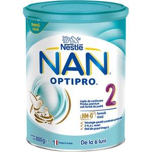 Lapte praf NESTLE NAN Optipro 2 HM-O 12426533, 6 luni+, 800g